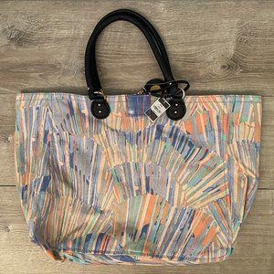 NEW Juicy Couture Sunburst Large Canvas Beach Tote